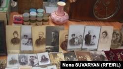 Georgia-- Vintage photographs at the flea market in Tbilisi, 02Mar2012