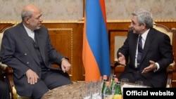 Armenia - President Serzh Sarkisian meets with Iranian Energy Minister Hamid Chitchian, Yerevan, 22Nov2013
