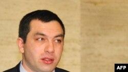 Гига Бокириа, вазири хориҷаи Гурҷистон, Женева, 18-уми ноябри соли 2008