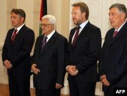 Mahmud Abas sa članovima Predsjedništva BiH, avgust 2011.