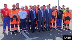 Президент России Владимир Путин на открытии движения по трассе «Таврида»