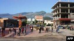Pamje nga një pjesë e Lazaratit në Shqipëri