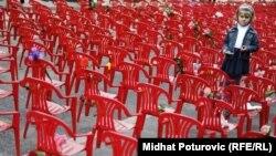 Sarajevska crvena linija, 20. godišnjica opsade, 6.4.2012.