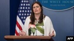 White House spokesman Sarah Huckabee Sanders