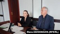 Джемал Гогия и его адвокат Нонна Реквава