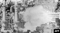 دود ناشی از حمله ۲۰ نوامبر ۱۹۷۹ در مسجد الحرام