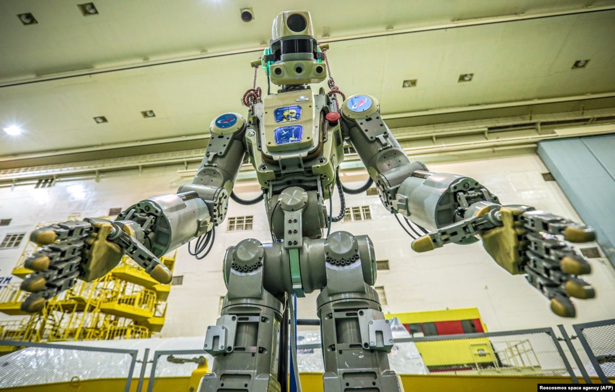Russia's First Humanoid Robot Launched Into Outer Space