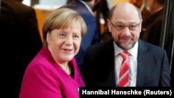 Ангела Меркель і Мартін Шульц
