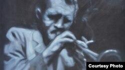 """Дел од изложбата """"Џез"""" на Гоце и Владимир Илиевски, млади уметници од Македонија."""