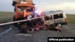 Фото с места аварии предоставлено ДВД Карагандинской области РК