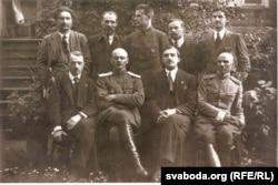 Первое правительство БНР. Председатель Язэп Воронка - сидит второй справа