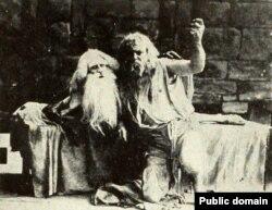 Сцэна зь нямога амэрыканскага фільму «Граф Монтэ Крыста» (1908)
