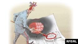Karikaturany çeken Mihail Zlatkowskiý