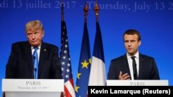 French President Emmanuel Macron will meet with President Donald Trump during his U.S. visit (file photo).