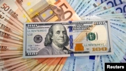 Euro and U.S. dollar banknotes - generic