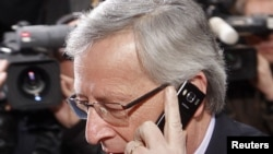 "Eurogroup Chairman Jean-Claude Juncker: ""The whole euro area is under attack..."""