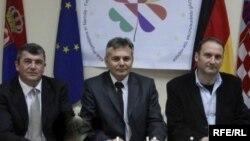 Osnivački Kluba prijateljstva Hrvata, Italijana i Nemaca, Andreati, Horvat i Vajs
