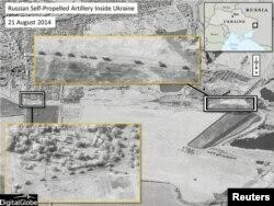 Satelitski snimak ruske atiljerije u Ukrajini od 21. augusta koji je NATO objavio 28. augusta