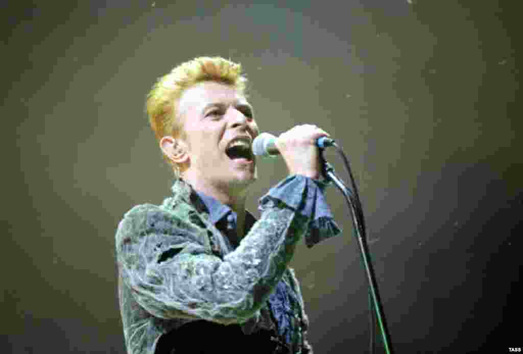 Концерт Боуи в Кремлевском дворце в Москве. Июнь 1996 года