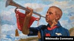 Іван Галаганаў. Піянэр. 1944.