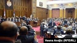 Депутаты сербского парламента. Белград, 12 января 2013 года.