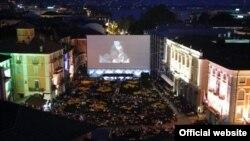 Киносеанс на главной площади Локарно