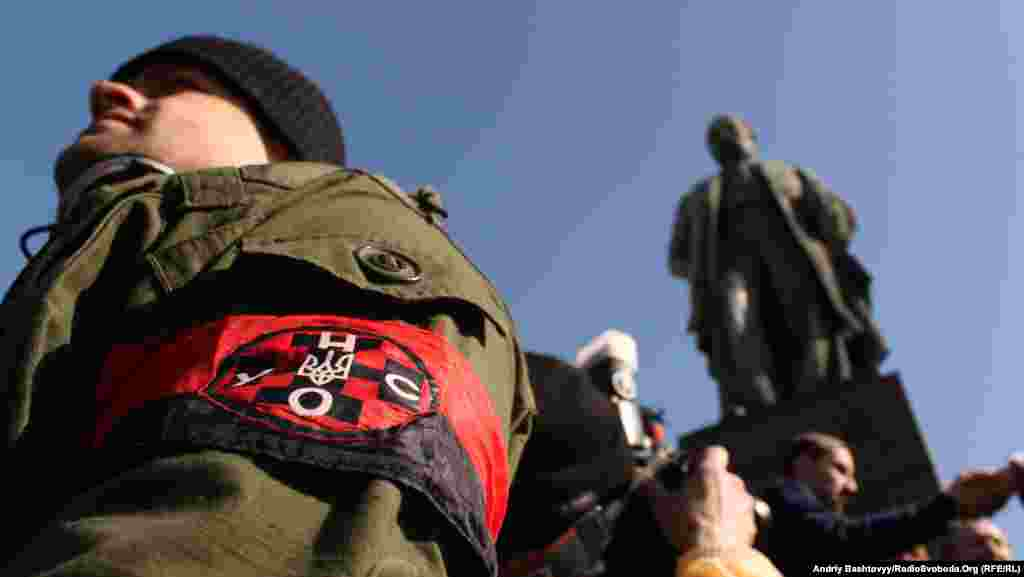 Ukraine -- Patriotic organizations held a rally to the birth of Taras Shevchenko Kyiv, March 9, 2012