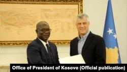 Predsjednik Kosova Hašim Tači i državni ministar Gvineje Bisao Fabien Sagna