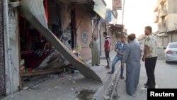 Сириядагы талкаланган Ракка шаары