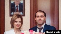 Помощник муфтия Дагестана Магомед Магомедов и Наталья Поклонская - март 2015 года