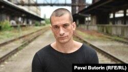 Петр Павленский в Праге
