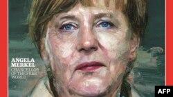 Ангела Меркел на насловната страница на Тајм