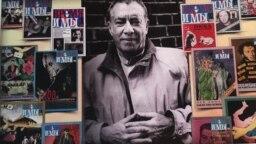 Виктор Перельман на фоне своего журнала. Фото Марианны Волковой