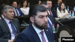 Armenia -- Davit Sanasarian, head of the State Oversight Service, attends a cabinet meeting in Yerevan, April 18, 2019.
