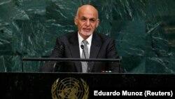Presidenti afgan, Ashraf Ghani, gjatë fjalimit të tij në OKB.