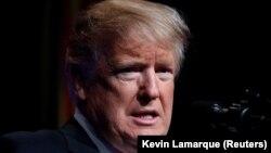 Президент Дональд Трамп АҚШ-тың зымыранға қарсы қорғаныс жүйесінің жаңа стратегиясын таныстырып тұр. Вирджиния, АҚШ, 17 қаңтар 2019 жыл.