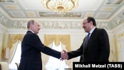 Владимир Путин и Нури аль-Малики, Санкт-Петербург, 25 июля 2017 года