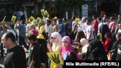 مظاهرة في مدينة نصر