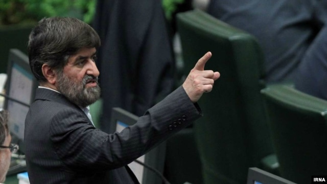 Iranian lawmaker Ali Motahari (in a file photo), who on January 11 reiterated his view that the ongoing house arrest of several opposition leaders violates the constitution.