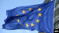 Флаг Евросоюза. Иллюстративное фото.