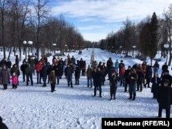 Митинг памяти Бориса Немцова в Казани