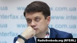 Председатель партии «Слуга народа» Дмитрий Разумков