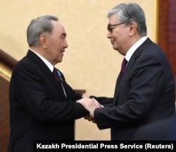 Назарбаев и Токаев. Астана, 20 марта 2019 года.