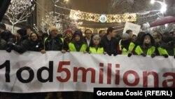 Protest u Beogradu, 15. decembar 2018.