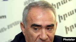 Armenia -- Galust Sahakian, the parliamentary leader of the ruling Republican Party, at a news conference, 3Mar2011.