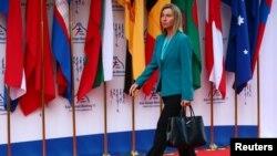 Глава европейской дипломатии Федерика Могерини (архивное фото)