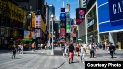 На улицах Нью-Йорка.