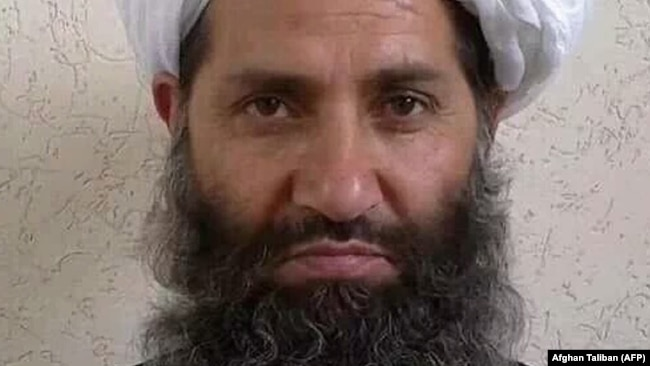 Taliban leader Mullah Haibatullah Akhundzada (file photo)