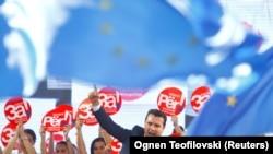 Kryeministri Zaev gjatë adresimit para popullit maqedonas