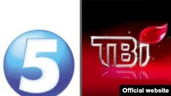 The TVi and Channel 5 logos